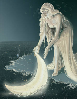 the lady and the moon