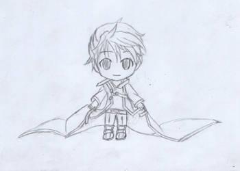 kirito chibi sketch by ihughes24