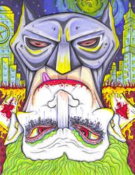 TOPSY-TURVY Batman and Joker