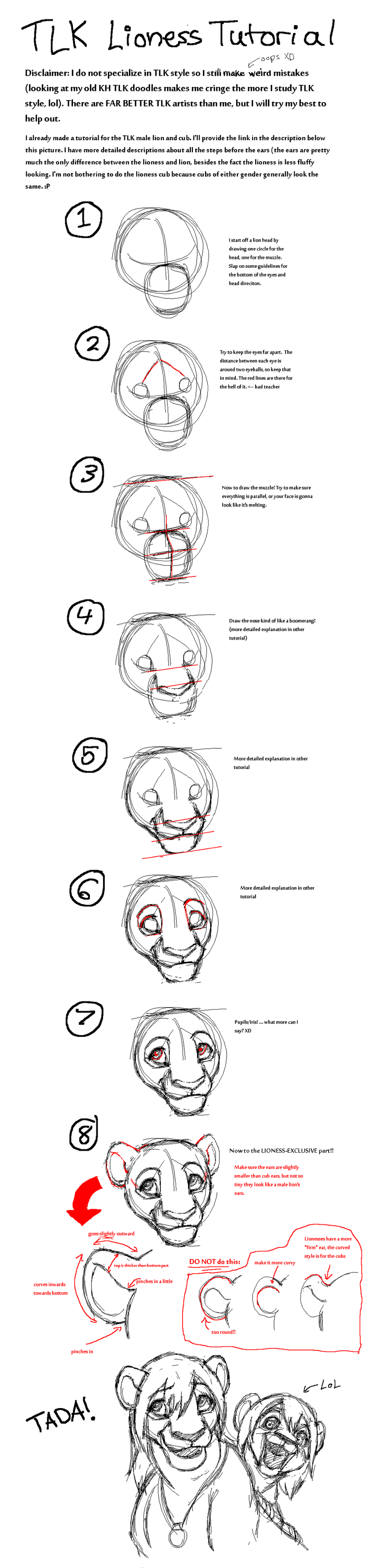 TLK Lioness Face Tutorial by rasenth