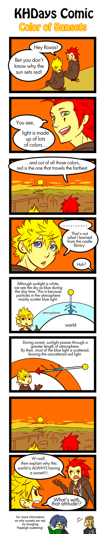 KH Comic: Why Sunsets are Red by rasenth