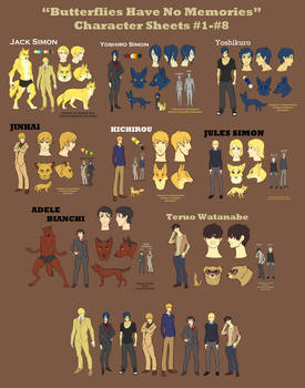 Obakemono Character Sheets 1-8