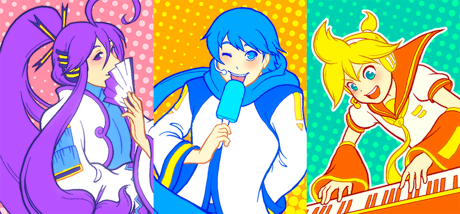 Vocaloid Dudes by rasenth