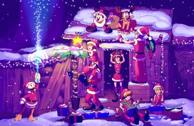 KH - Destiny Island Christmas by rasenth