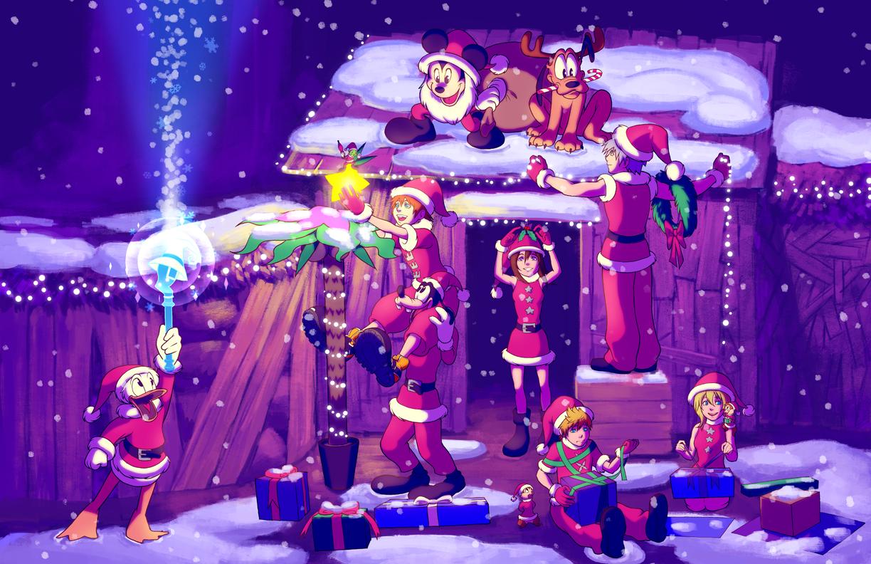 Kingdom Hearts Christmas.Kh Destiny Island Christmas By Rasenth On Deviantart