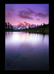 Alpine Lake Sunset