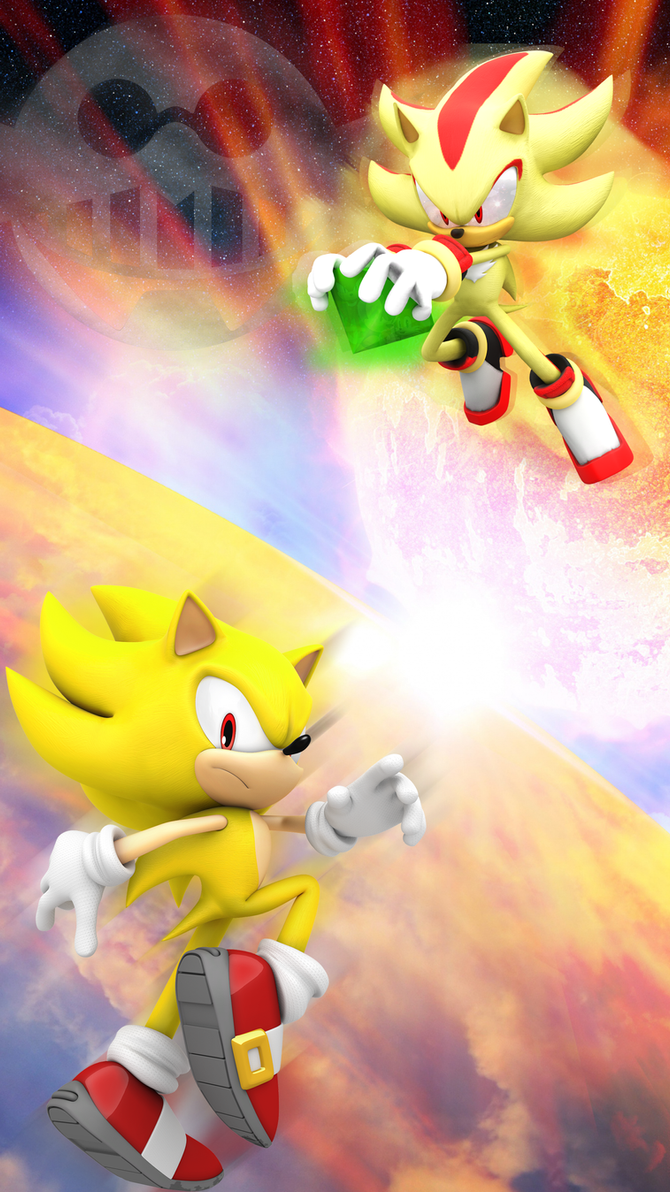 Super Sonic And Shadow Android IPhone Wallpaper By Hedgyhog