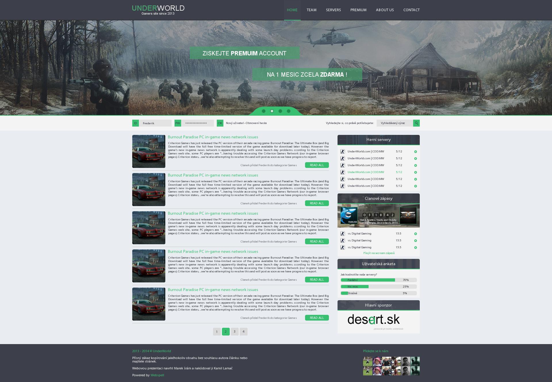 UnderWorld Flat Gaming Webdesign by jeffrey-cz on DeviantArt