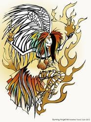 Burning Angel by kimberleetraub