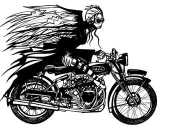 Black Shadow Woman by kimberleetraub