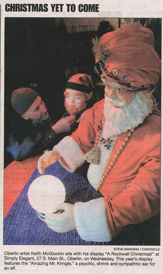 Psychic Santa by Keith-McGuckin