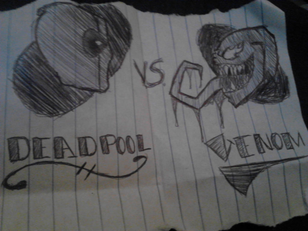 Deadpool v.s. Venom by Purple-C-y-a-n-i-d-e