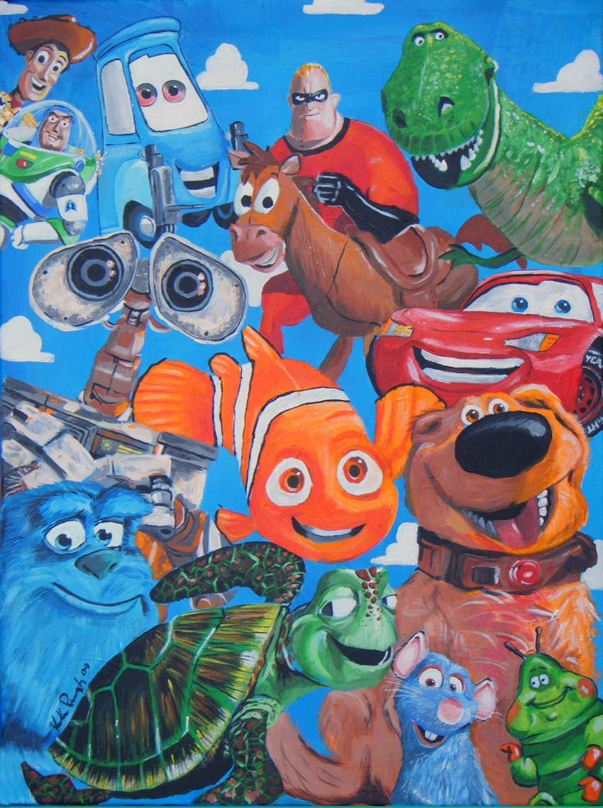 Pixar mural by kirkparrish on deviantart for Character mural