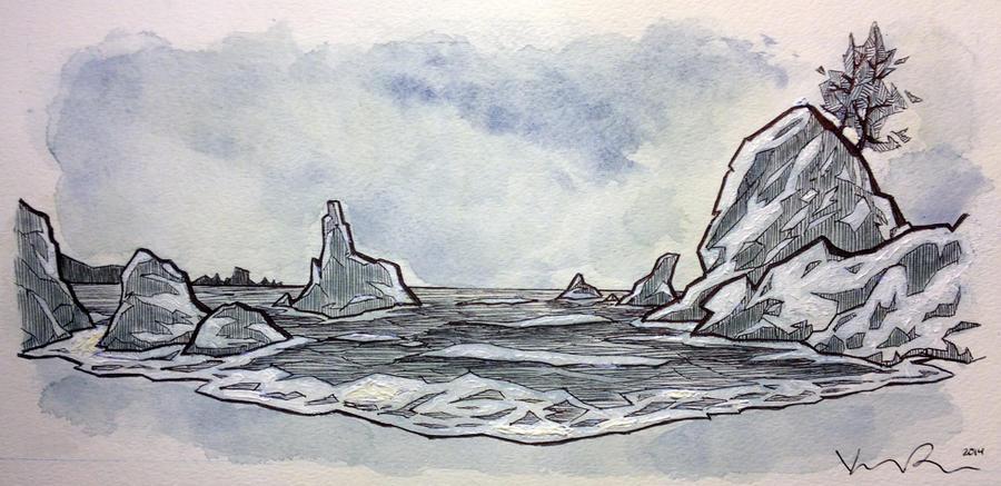 Coastline by KIRKparrish