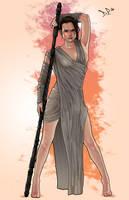 Rey - The Force Awakens by Midnight-Machine
