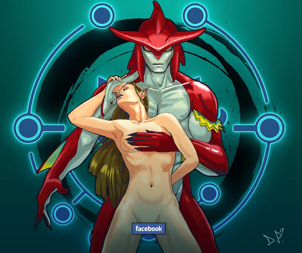 Prince Sidon and Princess Zelda (censored) by Midnight-Machine