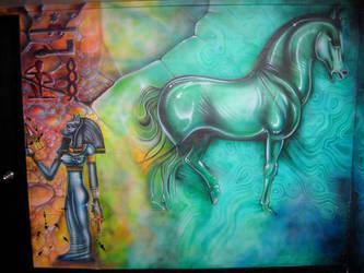 Basement Mural, SW corner by catbones