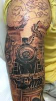Old Train Tattoo