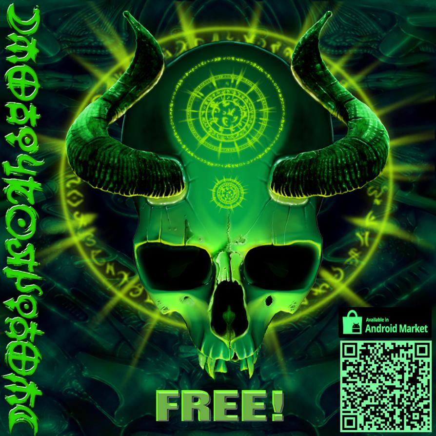 Best Wallpaper Cat Mystical - mystical_skull_live_wallpaper_by_catbones-d4bc1md  Pictures_99254 .png