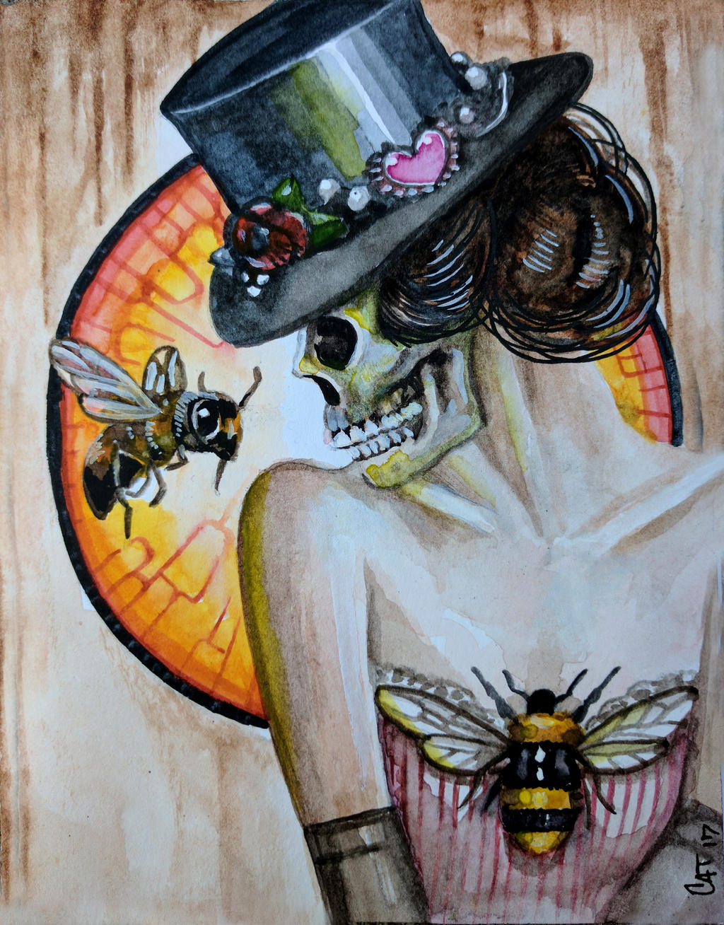 Girl with Bees by catbones
