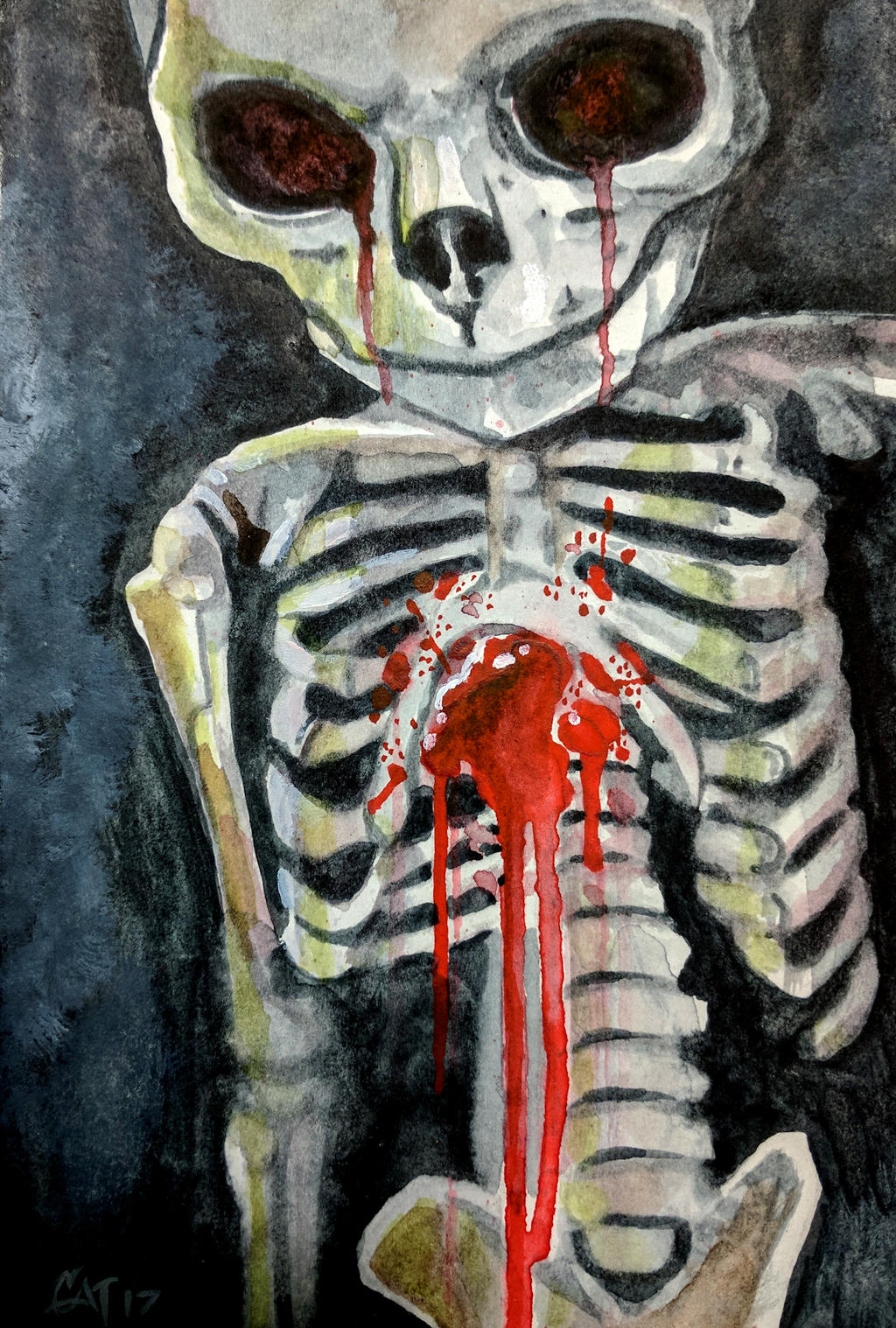 Baby Skelly by catbones