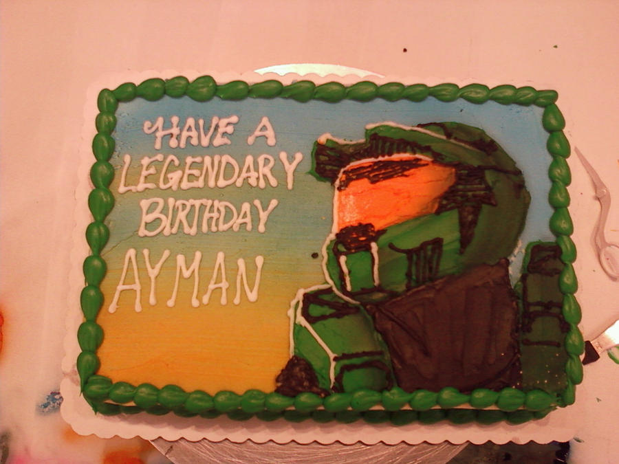 Master Chief Birthday Cake