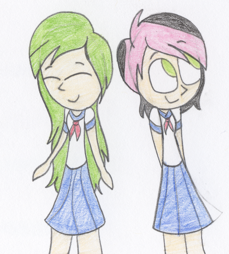 the gamer girls by LilyQueenOfPurple
