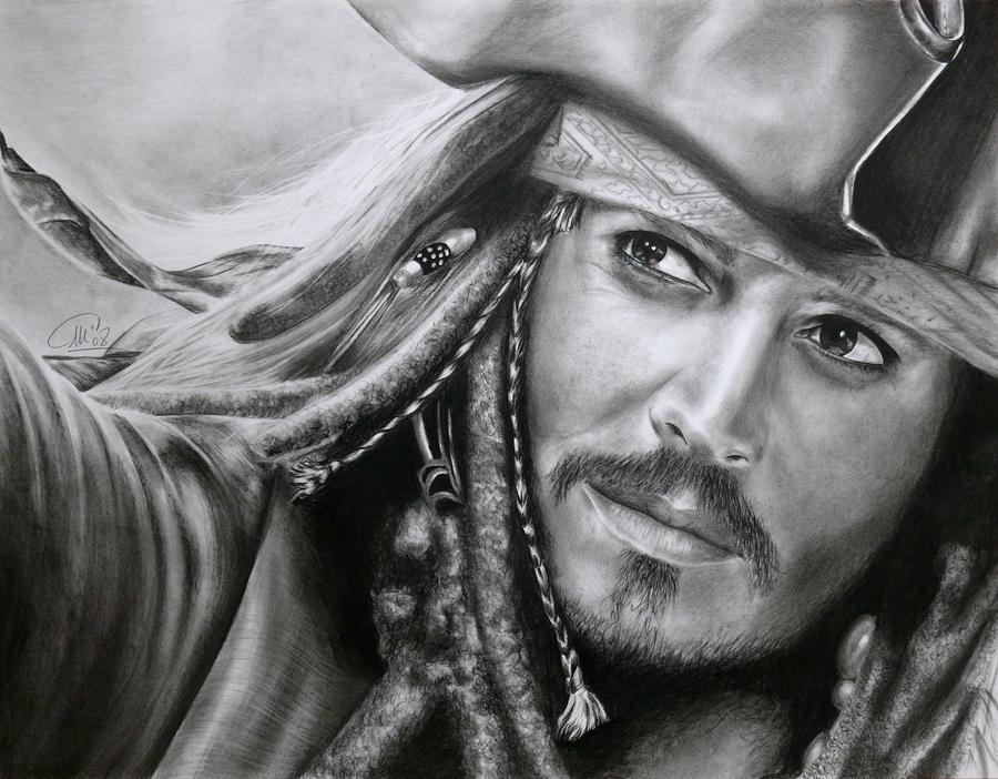 Captain jack sparrow by stars art on deviantart - Dessin johnny depp ...