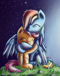 Rainbow Dash and Scootaloo