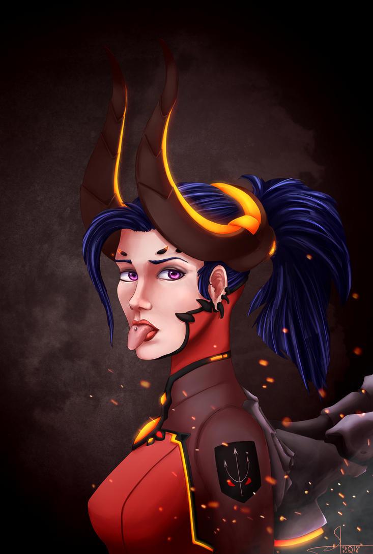 Mercy Devil. Overwatch by 1Vladislav