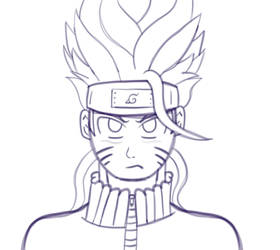 Super Saiyan Naruto 2 (sketch) by LostYandereShadow