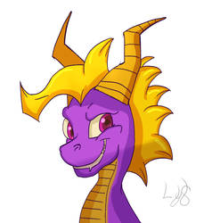 Spyro The Dragon. (Fan art) by LostYandereShadow