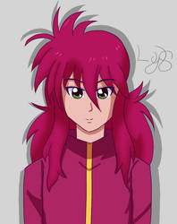 Kurama fan art. (Yu Yu Hakusho) by LostYandereShadow