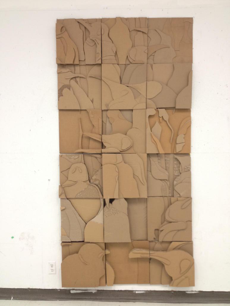 penguins cardboard relief mural by holhez21 on deviantart. Black Bedroom Furniture Sets. Home Design Ideas