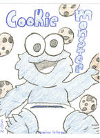 Cookie Monster as a baby by JapaneseArtGirl247