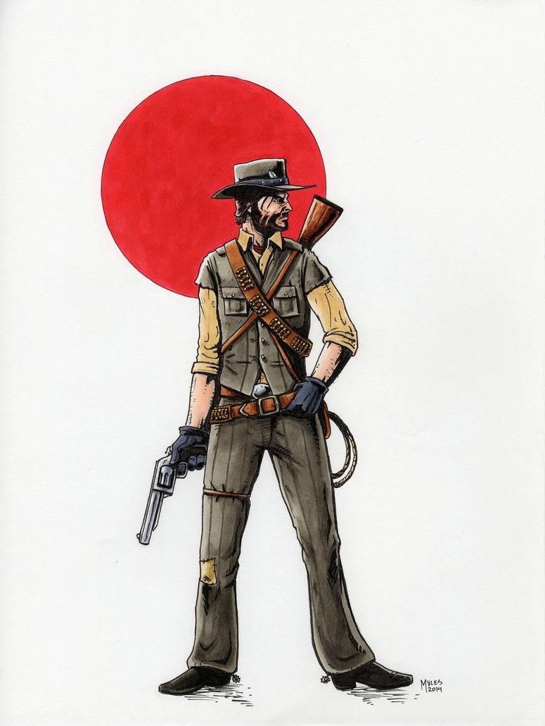 John Marston - Red Dead Redemption by mylesmw