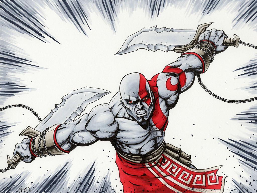 Kratos - God of War by mylesmw