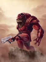Urdnot Wrex - Mass Effect by mylesillustration