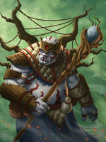 Shaman of the Wood by mylesillustration