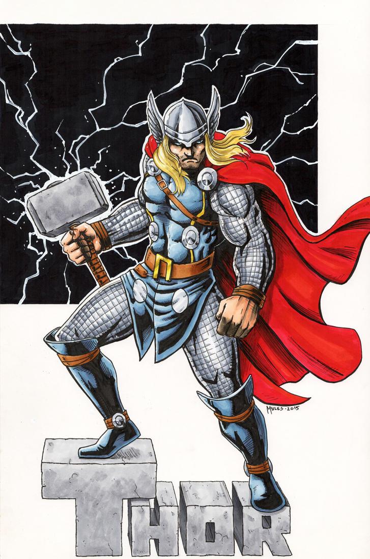 Thor by mylesillustration