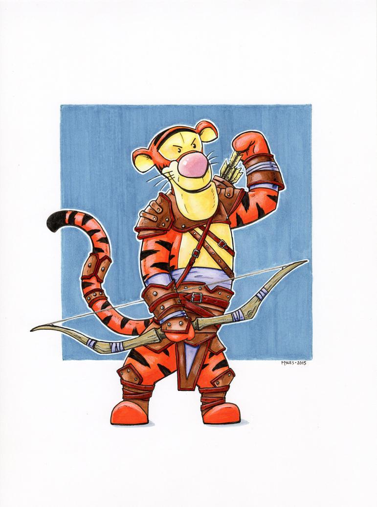 Tigger, Hunter by mylesillustration