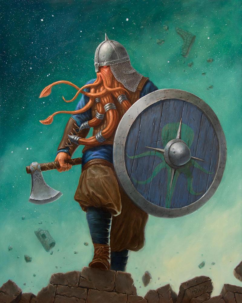 Uln Ot'Throd, Storm Caller by mylesillustration