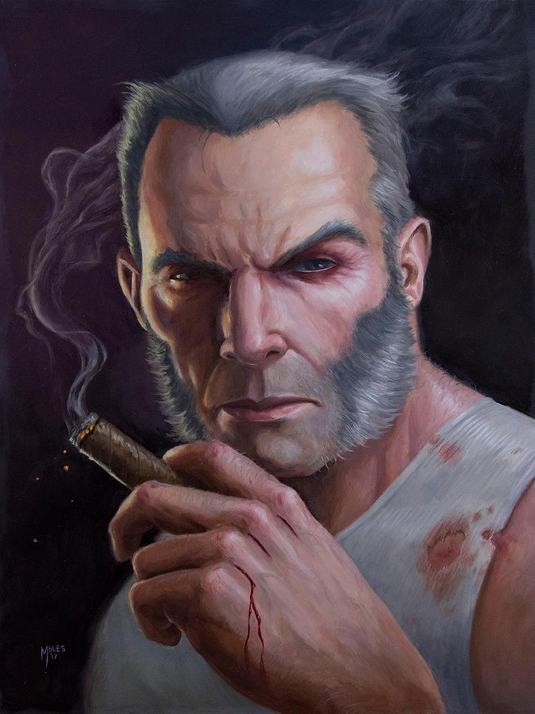 Old Man Logan Portrait by mylesillustration