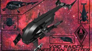 Nebulon Fighter/Void Raider by theomegareaper101