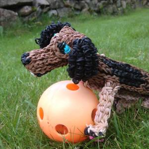 Rainbow Loom - Helix the dog!