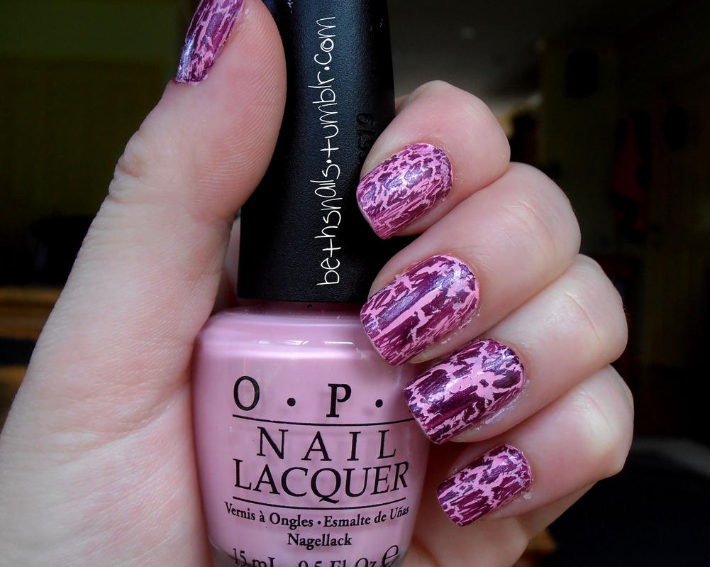 Nicki Minaj OPI Pink Crackle by besweetxo on DeviantArt