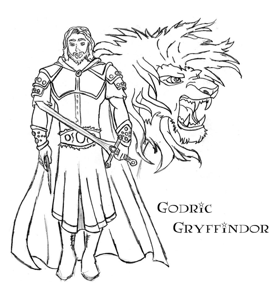 Gryffindor Coloring Pages Gryffindor Coloring Pages