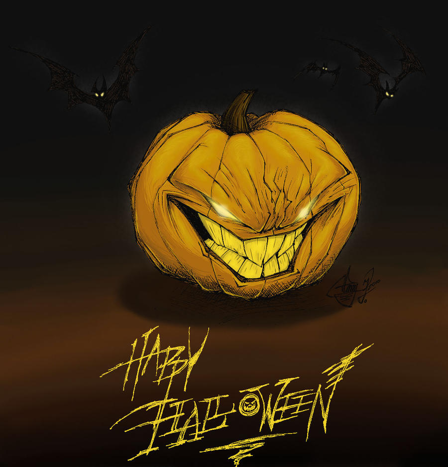 Jack O Lantern Color by The-HT-Wacom-Man