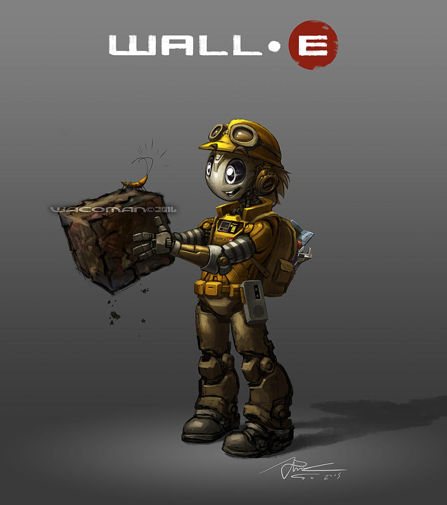 Humanoid WALL-E by The-HT-Wacom-Man