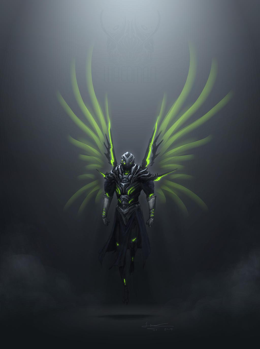 Commission: DARK ANGEL by The-HT-Wacom-Man